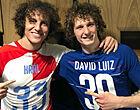 Foto: Bizar beeld: David Luiz schakelt eigen dubbelganger uit