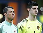 Foto: 'Ronaldo mengt zich en biedt Courtois dé oplossing aan'