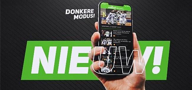 Foto: VoetbalNieuws lanceert donkere modus van app en mobiele site