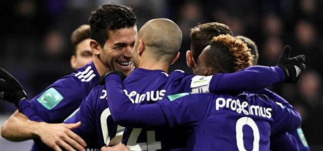 Foto: Anderlecht geeft KV Kortrijk pak voor de broek