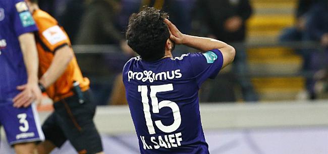 Foto: Anderlecht toch nog niet volledig verlost van Saief