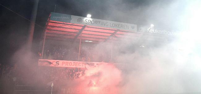 Foto: Fans voeren druk op bij Lokeren: match moet stilgelegd worden