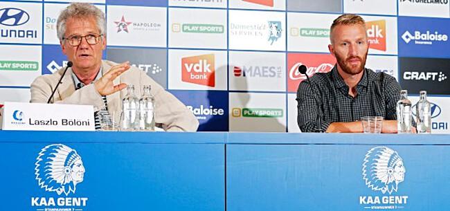 Foto: Bölöni dropt drie hints over basiselftal AA Gent