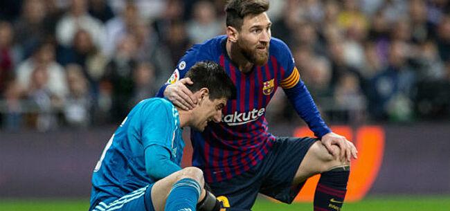 Foto: Courtois niet (meer) onder de indruk van Messi: