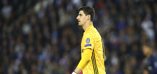 Foto: Courtois reageert na nieuwe uitschuiver Real Madrid