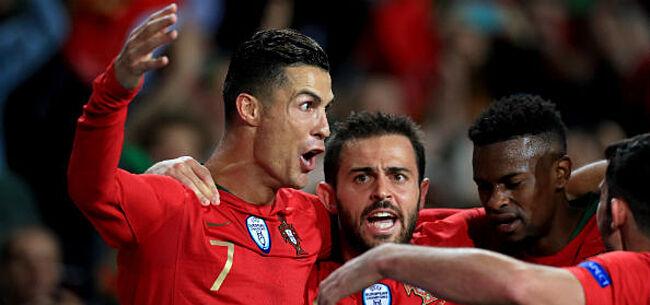 Foto: Portugal wint na prangend slot in Servië, vlotte zege voor Frankrijk