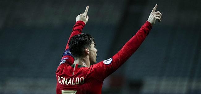 Foto: Ronaldo trapt Portugal met nummer 99 naar EK