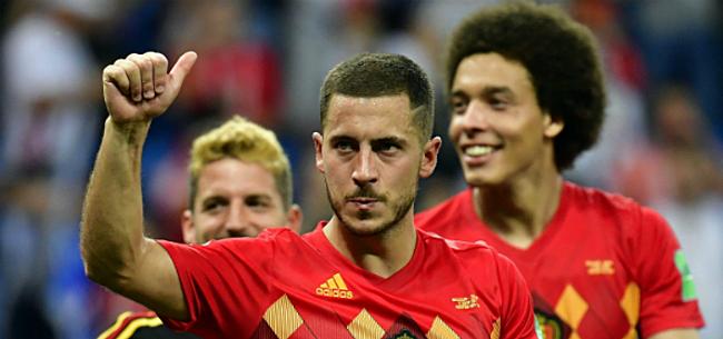 Foto: Hazard looft Franse speler: