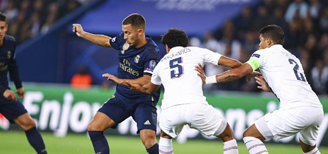 Foto: Real ziet af in Parijs, Hazard onzichtbaar: