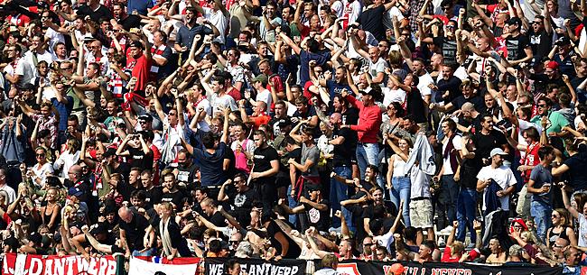 Foto: Antwerp-fans dienen Nederlanders van antwoord: volksverhuizing naar Heizel