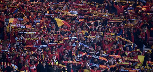Foto: 'Koude douche dreigt voor supporters Duivels tijdens EK'