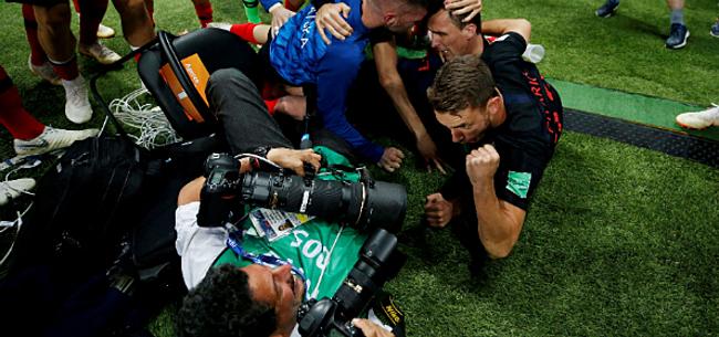 Foto: Video: Fotograaf beleeft bijzonder moment na treffer Kroatië