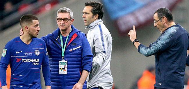 Foto: Sarri zet Hazard op zijn plaats: