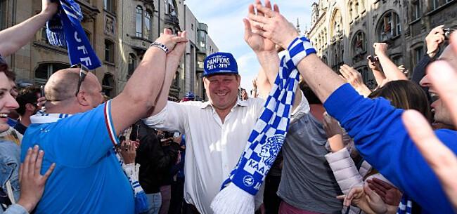 Foto: Vanhaezebrouck duidt verrassende kampioenenmaker AA Gent aan