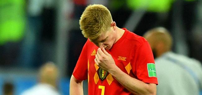 Foto: De Bruyne laat zich uit over 'anti-voetbal' Frankrijk