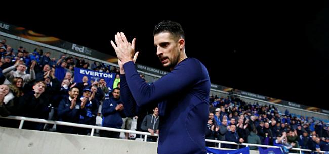 Foto: Mirallas is de pispaal van de Everton-fans, ook al zit hij in Griekenland