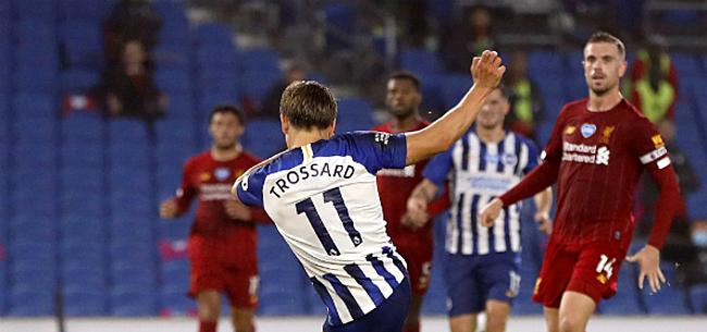 Foto: Knappe goal Trossard kan Liverpool niet van zege houden