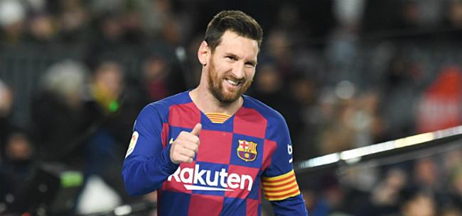 Foto: Messi naar het middenveld?