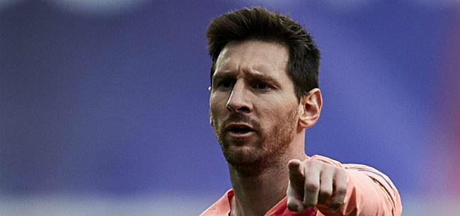 Foto: Messi spreekt in Camp Nou: