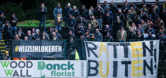 Foto: Fans KVM en Lierse helpen mee bij redding Lokeren