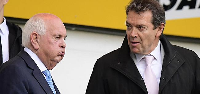 Foto: AA Gent-voorzitter De Witte vol argwaan: