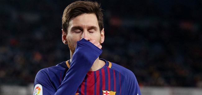 Foto: 'Flinke domper Barça: geen Messi in Champions League'