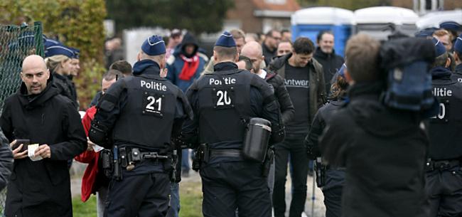 Foto: Antwerpen maakt zich op voor komst Club: waterkanon staat al klaar