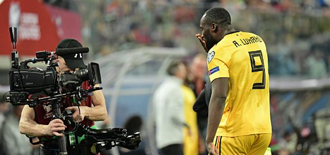 Foto: Lukaku verrast iedereen na doelpunt tegen Rusland