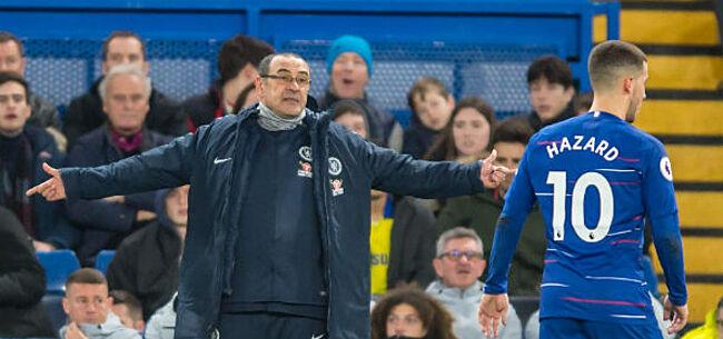 Foto: Sarri wijt bankzitterstatuut Hazard aan ... Rode Duivels