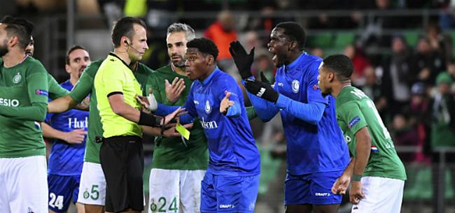 Foto: Gent-fans razend op Europese ref: