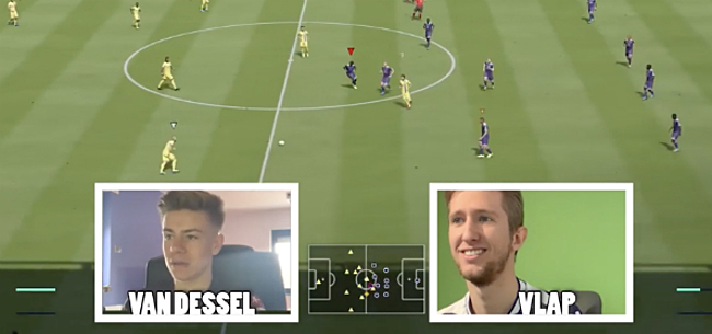 Foto: Anderlecht kan virtuele eer niet redden: STVV wint spektakelmatch