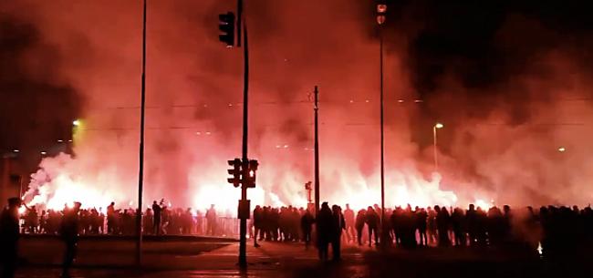 Foto: Antwerp-fans zetten 't Stad in brand vlak voor bekerclash
