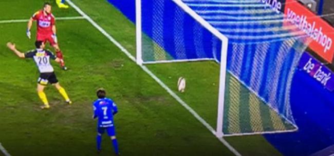 Foto: Genk ziet geldig doelpunt door neus geboord: