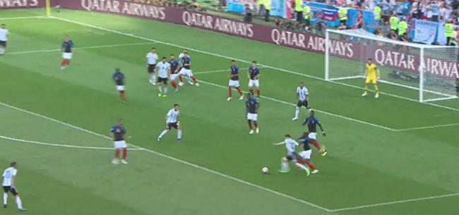 Foto: Video: Argentijnen zowaar op voorsprong tegen Frankrijk