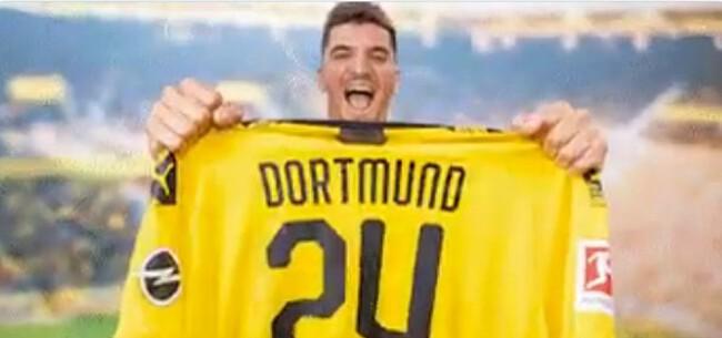 Foto: Meunier maakt kennis met Dortmund: