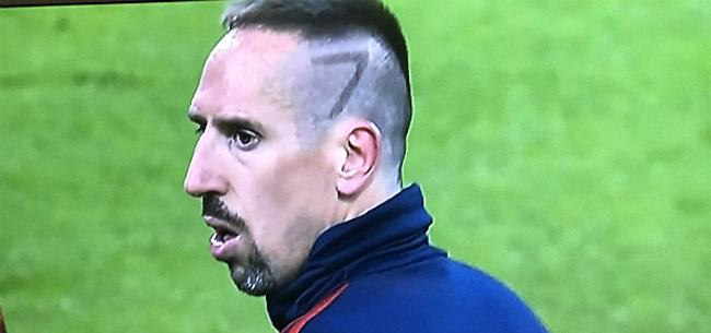 Foto: Ribery uitgelachen met nieuw kapsel: