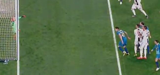Foto: 'Doelpunt Ronaldo niet geldig: doellijntechnologie was fout'