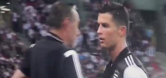 Foto: 'Ronaldo ergert zich al na enkele weken rot aan Sarri'