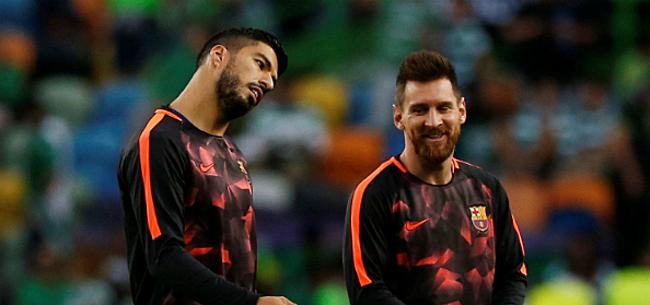 Foto: Suarez richt zich tot Messi na pijnlijke WK-uitschakeling