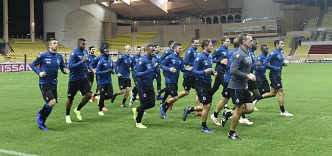 Foto: Titularis Club Brugge in zak en as:
