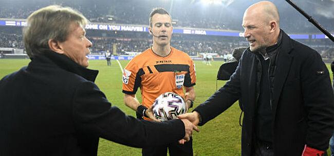 Foto: Clement strooit met lof (en hoop) richting Anderlecht
