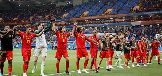 Foto: Iedereen zit al klaar voor Brazilië-België: