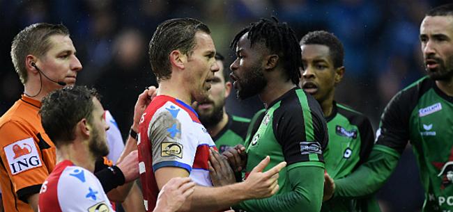 Foto: Vlagincident krijgt staartje: schorsing dreigt voor Cercle- én Club-spelers