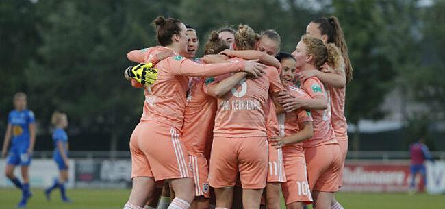 Foto: Anderlecht-vrouwen zetten zichzelf in de kijker: