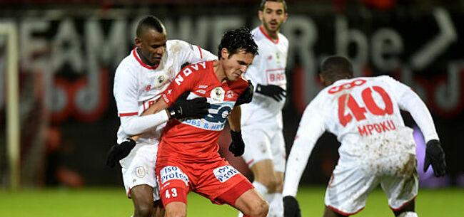 Foto: KV Kortrijk komt met vreemde uitleg na incident met Agbo