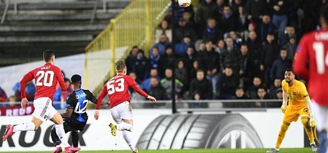 Foto: United-fans woedend op stad Brugge: