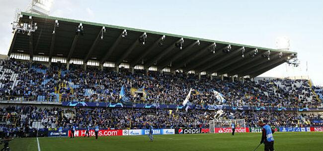 Foto: Club Brugge-fans palmen Santiago Bernabeu in