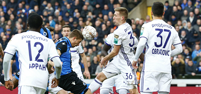 Foto: Anderlecht op Club Brugge in PO I: Club geen baas in eigen huis