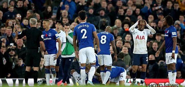 Foto: Tottenham gooit in extra tijd de zege weg bij Everton, Gomes loopt beenbreuk op