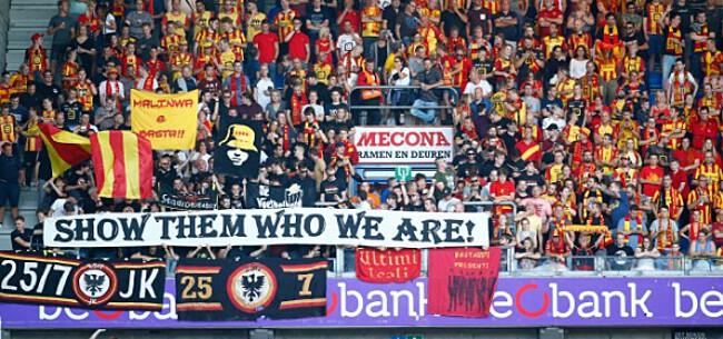 Foto: Supporters KV Mechelen pakken uit met pijnlijke gezangen: